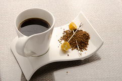 kaffe isolerad set white Royaltyfri Bild