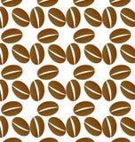 Kaffe kärnar ur bakgrund Royaltyfria Bilder