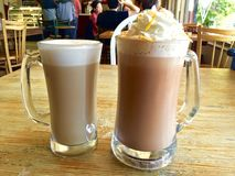 Kaffe - kafé Borgia och kafélatte Arkivfoton