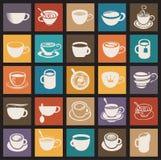 Kaffe kuper, och tea kuper royaltyfri illustrationer