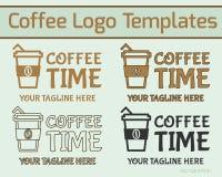 Kaffe Logo Design royaltyfri illustrationer