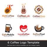 Kaffe Logo Template Design Vector Fotografering för Bildbyråer