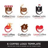 Kaffe Logo Template Design Vector Royaltyfri Bild