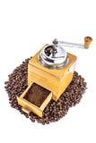 kaffe mal gammalt Arkivfoto
