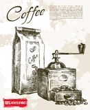 Kaffe maler bakgrund royaltyfri illustrationer
