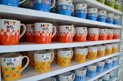 Kaffe med briljant färg royaltyfria bilder