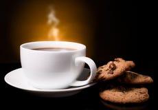 Kaffe med en röka Fotografering för Bildbyråer