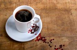 Kaffe med förälskelse Royaltyfria Foton