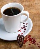 Kaffe med förälskelse Royaltyfria Bilder