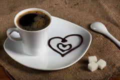 Kaffe med förälskelse Royaltyfri Bild