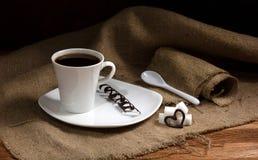 Kaffe med förälskelse Royaltyfri Foto