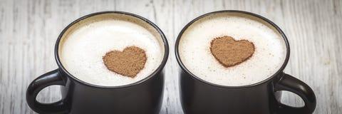 Kaffe med f?r?lskelse royaltyfri bild