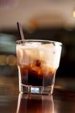 Kaffe med glass Arkivfoton