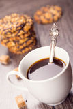 Kaffe med kakor Royaltyfri Foto