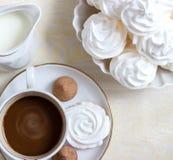 Kaffe med kräm Royaltyfria Bilder