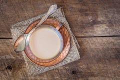 Kaffe med kräm Fotografering för Bildbyråer