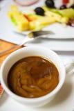 Kaffe med mjölkar Royaltyfri Foto