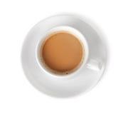 Kaffe med mjölkar Arkivfoton