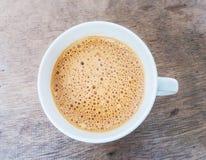 Kaffe med skum överst royaltyfri fotografi