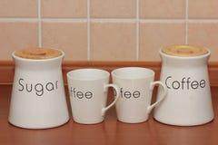 Kaffe med socker royaltyfri foto