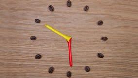 kaffe mer tid stock video