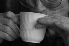 kaffe mer tid Arkivfoto