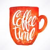 kaffe mer tid vektor illustrationer