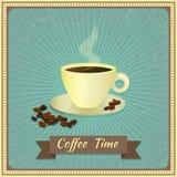 kaffe mer tid också vektor för coreldrawillustration Royaltyfria Bilder