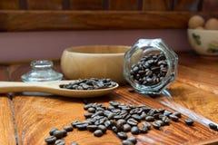 Kaffe mig, kaffeböna Royaltyfria Bilder