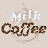 kaffe mjölkar vektor illustrationer