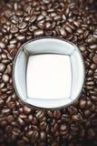 Kaffe & mjölkar Fotografering för Bildbyråer