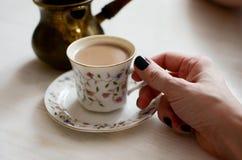 kaffe mjölkar Arkivbild