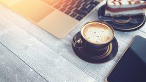 Kaffe och affär Royaltyfria Foton