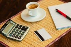 Kaffe och affär Fotografering för Bildbyråer