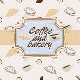 Kaffe och bageri Vektor Illustrationer