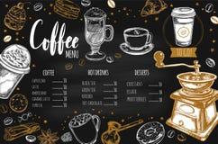 Kaffe- och bagerirestaurangmeny 2 vektor illustrationer