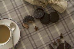 Kaffe och chocobakgrund 04 Royaltyfri Fotografi