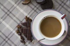Kaffe och chocobakgrund 14 Royaltyfria Bilder