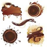 Kaffe och choklad stock illustrationer