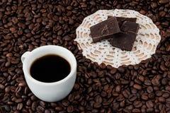Kaffe och choklad Royaltyfri Fotografi