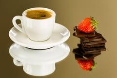 Kaffe och choklad Arkivfoto