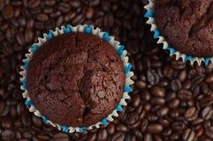 Kaffe- och chokladmuffin Royaltyfri Foto
