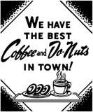 Kaffe och Donuts vektor illustrationer