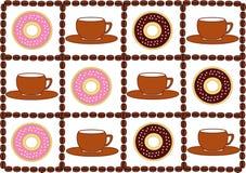 Kaffe och Donuts Fotografering för Bildbyråer