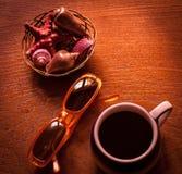Kaffe och exponeringsglas Royaltyfria Foton