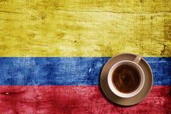 Kaffe och flagga Royaltyfri Foto