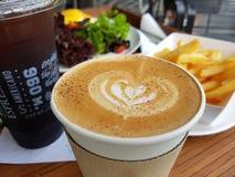 Kaffe och frukost royaltyfri foto