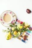 Kaffe och frukter Arkivfoto