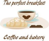 Kaffe och giffel Royaltyfri Illustrationer