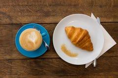 Kaffe och giffel Arkivbild
